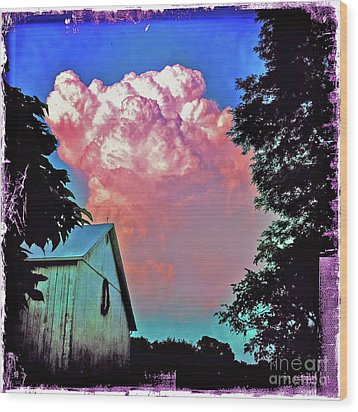 Thunderhead Wood Print by Kevyn Bashore