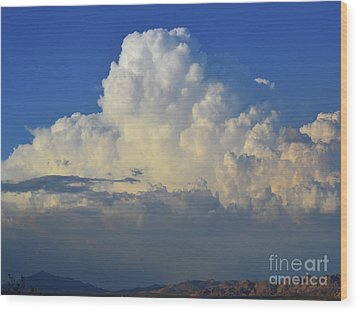 Wood Print featuring the photograph Thunderhead by Suzette Kallen