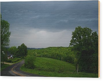 Wood Print featuring the photograph Thunderstorm by Kathryn Meyer