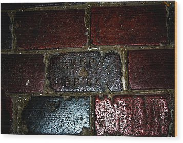 Thurber Brick Wood Print by Toma Caul