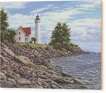 Tibbetts Point Lighthouse Wood Print by Richard De Wolfe
