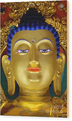 Tibetan Bhudda 3 Wood Print by Bob Christopher