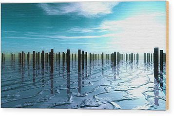 Tide Is Out... Wood Print by Tim Fillingim