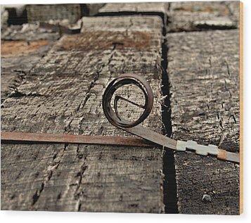 Ties Wood Print by Odd Jeppesen