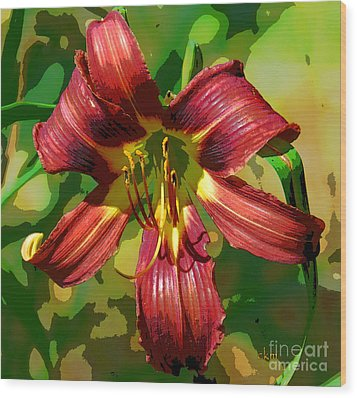 Tiger Lily Wood Print by Cindy Manero