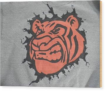 Tiger Splatter Custom Painted Crewneck Sweatshirt Wood Print by Joseph Boyd