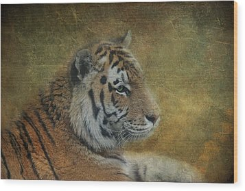 Tigerlily Wood Print by Claudia Moeckel