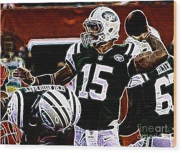 Tim Tebow  -  Ny Jets Quarterback Wood Print by Paul Ward