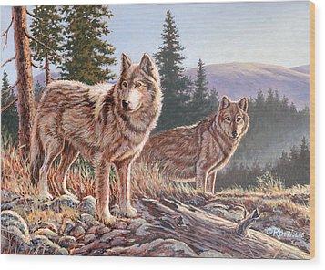 Timber Ridge Wood Print by Richard De Wolfe