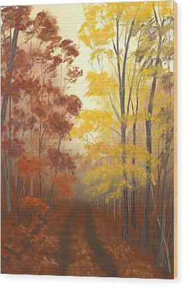 Timber Road Wood Print by Garry McMichael