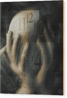 Time Confusion Wood Print by Gun Legler