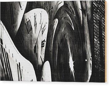 Time Fly Wood Print by Claudia Boeckelmann