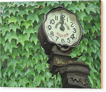 Time In Green Wood Print