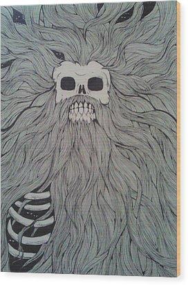 Time Wood Print by Ronald Mcduff