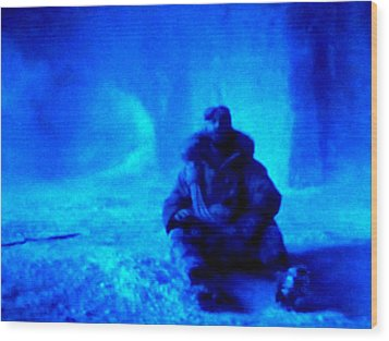 Time Stopped In A Huge Snow Ice  Grotte Wood Print by Colette V Hera  Guggenheim