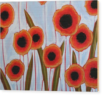 Time To Bloom Wood Print by Amy Giacomelli