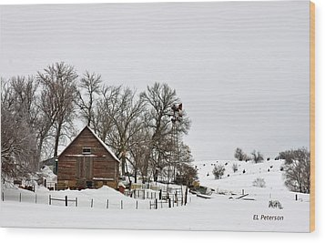 Wood Print featuring the photograph Time To Do The Chores by Edward Peterson