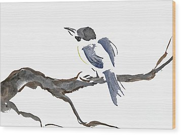 Time To Fly South Wood Print by Ellen Miffitt