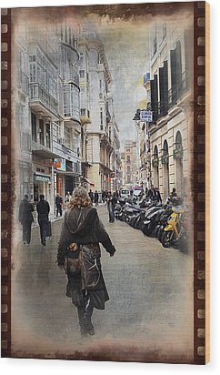 Time Warp In Malaga Wood Print by Mary Machare