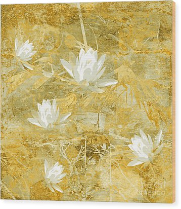 Timeless Beauty Photo Collage Wood Print by Ann Powell