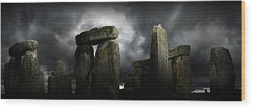 Wood Print featuring the photograph Timeless Great Stones by John Chivers