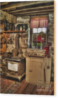 Times Gone By Wood Print by Susan Candelario