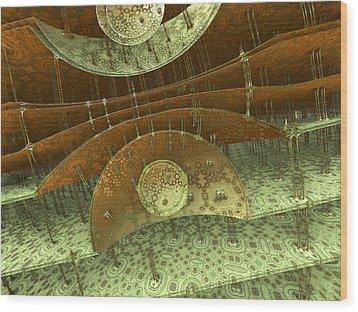 Timpani Wood Print by Pam Blackstone