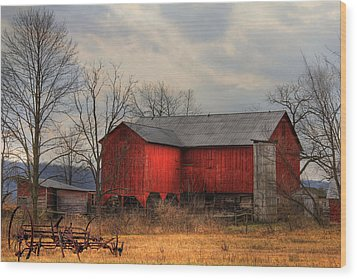 Tin Roof Wood Print by Sharon Batdorf