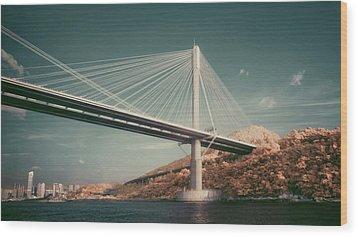 Ting Kau Bridge Wood Print by Yiu Yu Hoi