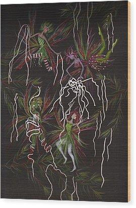 Tinsel War Wood Print by Dawn Fairies