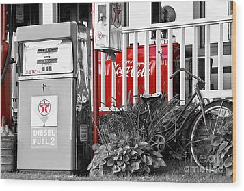 Tinted Fuel For Life Wood Print by Brenda Giasson