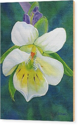 Tiny Wildflower Wood Print by Debra Spinks