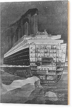 Titanic: Shipwreck, 1912 Wood Print by Granger