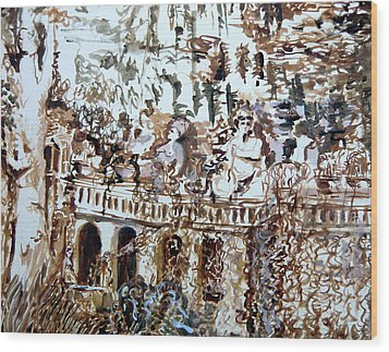 Tivili Fountains Wood Print by Mindy Newman