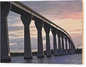 Wood Print featuring the photograph Tj Bridge by Kelly Reber