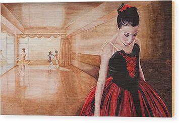 To Dance To Dream Wood Print by Kathy Michels