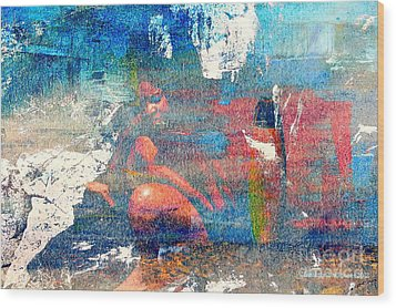 To Feel Blue Wood Print by Fania Simon