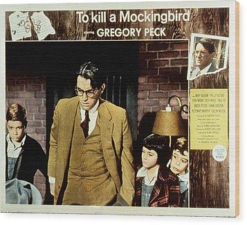 To Kill A Mockingbird, Gregory Peck Wood Print by Everett