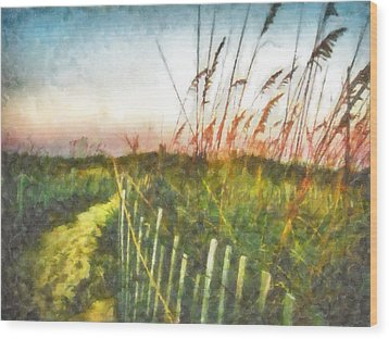 To The Sea Wood Print by Lynne Jenkins