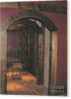 To The Wine Cellar Wood Print by Renee Trenholm