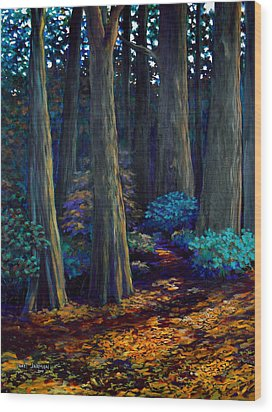 To The Woods Wood Print by Jeanette Jarmon