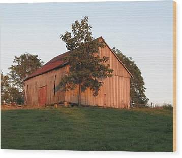 Tobacco Barn II In Color Wood Print
