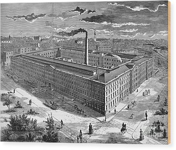 Tobacco Factory, 1876 Wood Print by Granger