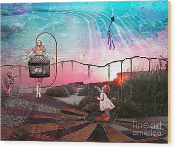 Wood Print featuring the digital art Today Is The Greatest Day Of All by Rhonda Strickland