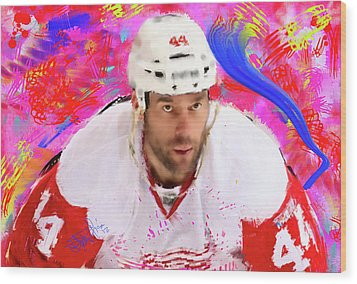 Todd Bertuzzi 3 Wood Print by Donald Pavlica