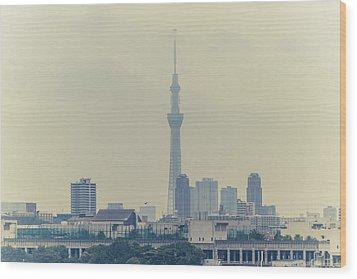 Tokyo Skytree Wood Print by Gregory Ferguson