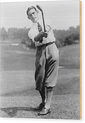 Tom Armour Wins Us Golf Title - C 1927 Wood Print by International  Images
