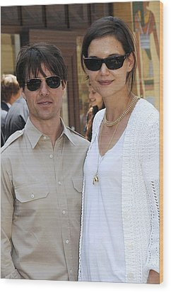 Tom Cruise Wearing Ray-ban Sunglasses Wood Print by Everett