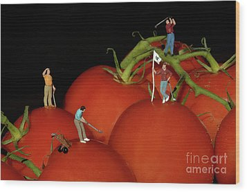 Tomato Beach Golf Classsic Wood Print by Bob Christopher