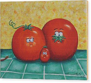 Tomato Family Portrait Wood Print by Jennifer Alvarez